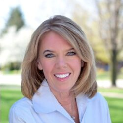 """Terri DeBoer will serve the event as both an author and our Emcee.  Terri is a familiar face and voice across west Michigan, as she has been delivering the """"wake-up"""" weather forecast on WOOD-TV since 1995! As a working mother, DeBoer has weathered the seasons of life, from newlywed to busy mom... in a very public way. Her transition into the current season in her life, the empty nest season, has been her most challenging yet! In 2020, as the world was shutting down due to the coronavirus pandemic, DeBoer had signed a contract and began writing her very first book, Brighter Skies Ahead: Forecasting A Full Life When You Empty The Nest. Brighter Skies Aheadis an easy-to-read guidebook, outlining 50 strategies for this challenging transition in life. Publication date is set for November 9, 2021, which means that for our event this year, DeBoer will have advanced copies of her book, available for attendees to purchase before they are available in bookstores!"""